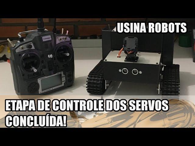 ETAPA DOS SERVOS FINALIZADA NO ROBÔ! | Usina Robots US-2 #142