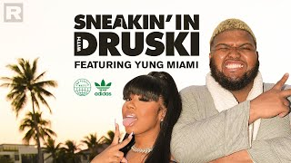 Druski stops by Yung Miami's crib for a fun lesson on sustainability | Sneakin' In With Druski