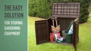 Видео: Садовый ящик шкаф Keter Store-It-Out MIDI