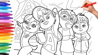 Alvinnn and the Chipmunks, Alvin Coloring Page for Kids, How to Draw Color Alvin Simon Theo Brittany