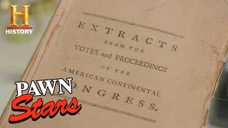 Pawn Stars: Extremely Rare Book from the 1774 Continental Congress (Season 16) | History