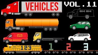 Vehicles Collection Volume 11 - Street Vehicles, ABC Song, 123 Song - The Kids' Picture Show
