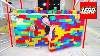 WORLD'S SAFEST LEGO HOUSE! (SECURITY, LOCKS, WEAPONS, & MORE)