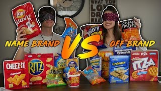 NAME BRAND vs. OFF BRAND FOOD (BLIND TASTE TEST)