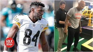 Antonio Brown should 'shut his face' and look at Ryan Shazier - Mike Golic | Golic and Wingo