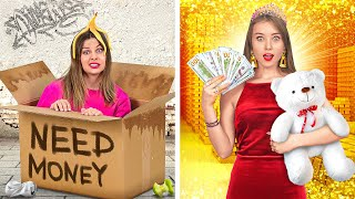 RICH STUDENTS VS BROKE STUDENTS || Funny Situations In Real Life by 123 GO!
