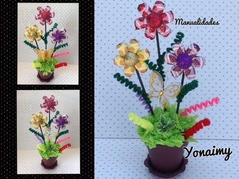 FLORES  HECHAS CON DULCES PARA UN REGALO ORIGINAL.- CANDY FLOWERS.