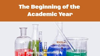 The Beginning of the Academic Year