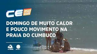 Domingo de muito calor e pouco movimento na praia do Cumbuco
