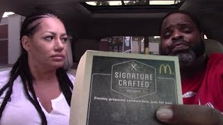 McDonald's Signature Crafted Sriracha and Maple Bacon Dijon Burgers