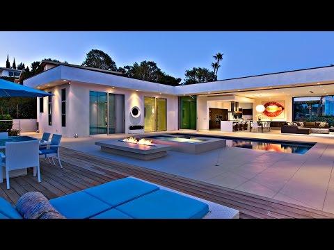 Senzačný moderný a luxusný dom v Beverly Hills, CA, USA