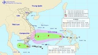 Tin Áp Thấp Nhiệt Đới  02/11/2017 : Tin áp thấp nhiệt đới gần bờ và tin áp thấp  trên Biển Đông