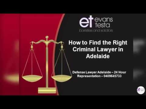 How to Find the Right Criminal Lawyer in Adelaide