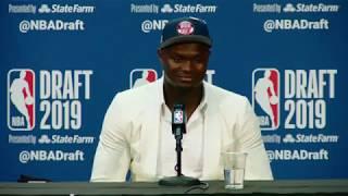 Zion Willamson Press Conference | 2019 NBA Draft