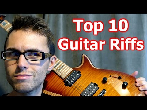 Top 10 Greatest Guitar Riffs... Played Backwards!