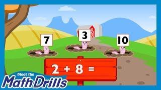 Meet the Math Drills Addition - 2's
