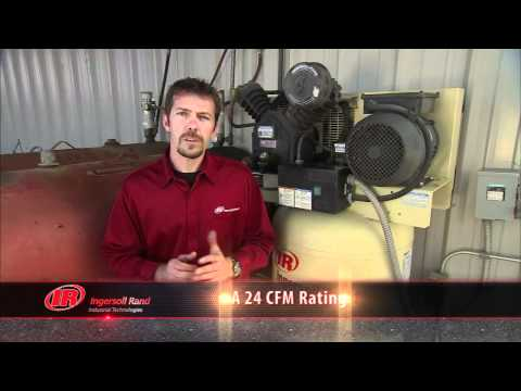 video Ingersoll Rand 2475N5-P Stationary Air Compressor