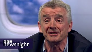 Ryanair's Michael O'Leary: UK is in denial over impact of Brexit on air travel - BBC Newsnight