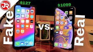 Fake Vs Real iPhone XS Max Full Comparison (NEW) | $127 FAKE vs $1099 REAL