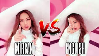 Lisa and Jennie Korean VS English Rap ~ 100 Subscribers Special