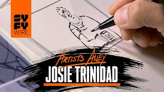 Watch Disney Animation's Head Of Story Share Animation Secrets & Sketch (Artists Alley) | SYFY WIRE