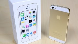 iPhone 5s Unboxing (Gold Edition)
