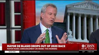 El alcalde de Nueva York, Bill de Blasio, abandona la campaña presidencial de 2020