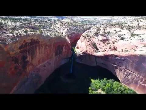 Lower Calf Creek Falls Drone