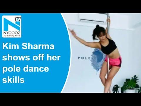Kim Sharma shows off her pole dance skills, Yuvraj Singh drops a comment