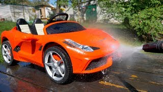 Artur and red toy Car wash - YouTube