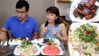 Lần Đầu Ăn Gỏi Su Hào Tươi Mới Hái Ngoài Vườn Sau Nhà 🇨🇦316》 HKohlrabi Salad for Dinner