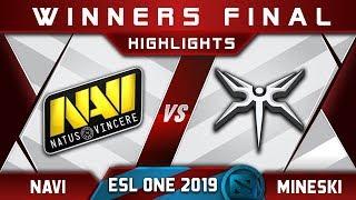 Mineski vs NaVi Winners Final ESL One Mumbai 2019 Highlights Dota 2