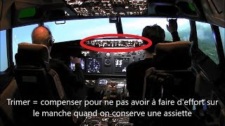 Vol en Boeing 737 expliqué et sous-titré, avec check list et remise de gaz