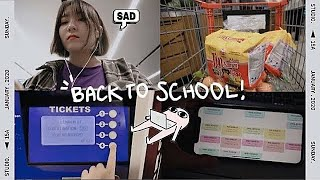 my back to school routine ⭐︎ how I prepare for a new semester at college