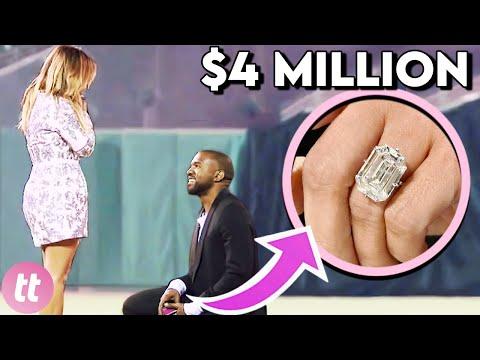Канје Вест потроши 3 милиони долари за Ким Кардашијан - најскапите запросувања на познатите личности