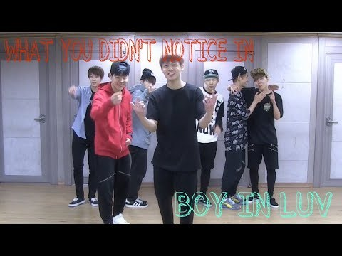 What you didn't notice in Boy In Luv practice