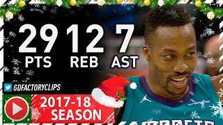 Dwight Howard Full Highlights vs Warriors (2017.12.29) - 29 Pts, 12 Reb, 7 Ast, BEAST!