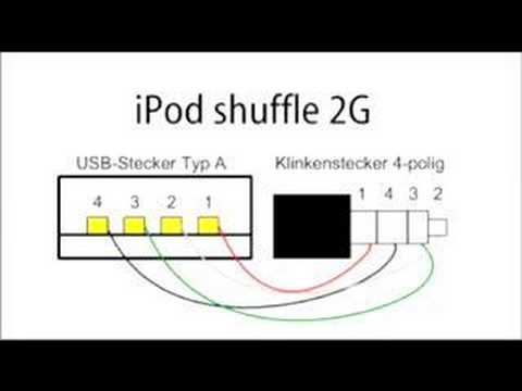 ipod shuffle 2nd generation wiring diagram ipod shuffle usb wire color diagram