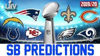 Super Bowl 54 Predictions (NFL 2019-2020 Season Predictions)