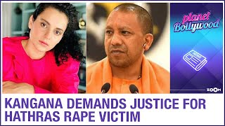 Kangana demands justice for Hathras r*pe victim; Bollywood..