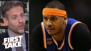 'Go be the best player in China!' - Max Kellerman on Melo possibly rejoining the Knicks   First Take