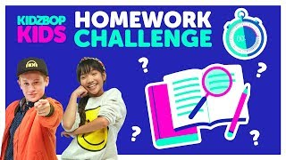 Back To School Homework Challenge with The KIDZ BOP Kids