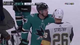 Cody Eakin gets five minute major for cross-checking Pavelski, sparks Sharks comeback