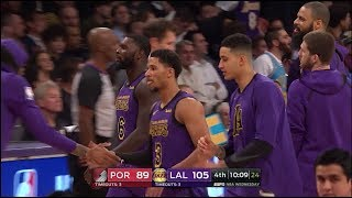 Lakers' Young Core –  Full Highlights with Defense vs Blazers (Nov 14, 2018)