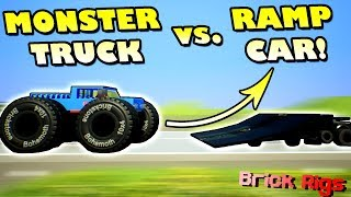 INSANE MONSTER TRUCK STUNTS with BOB and BOB! - Brick Rigs Multiplayer Gameplay Ep28