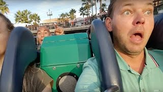 Brauciens Amerikāņu kalniņos/ On CALIFORNIA SCREAMIN' ride