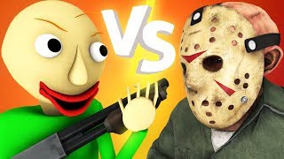 Baldi vs Jason Voorhees 2: Shotgun (Friday 13 horror game 3D animation)