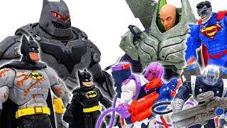 Power Rangers & Marvel Avengers Toys Pretend PLay | Batman vs Lex Luthor & Villains Superhero Toy