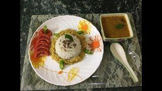Maand Soup(Khatha Meetha Rice Water) with Dal Chawal   खट्टा मीठा मांड सूप व दाल चावल