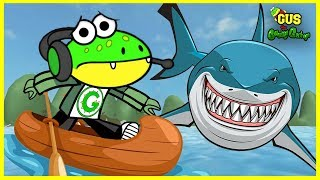 Roblox Shark Bite OUT RUN THE SHARK Let's Play with Gus